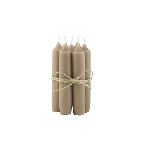 Bundeltje kaarsen - milky brown
