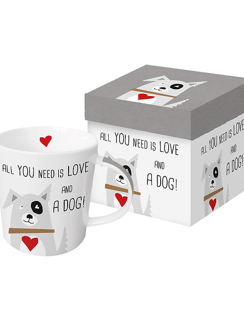Beker 'All you need is love and a dog' van PPD