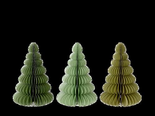 Kerstboom van papier - medium - verschillende kleuren