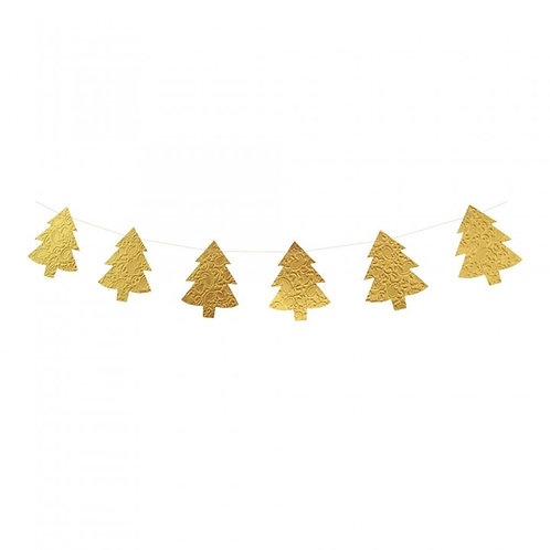Slinger van papieren kerstboompjes