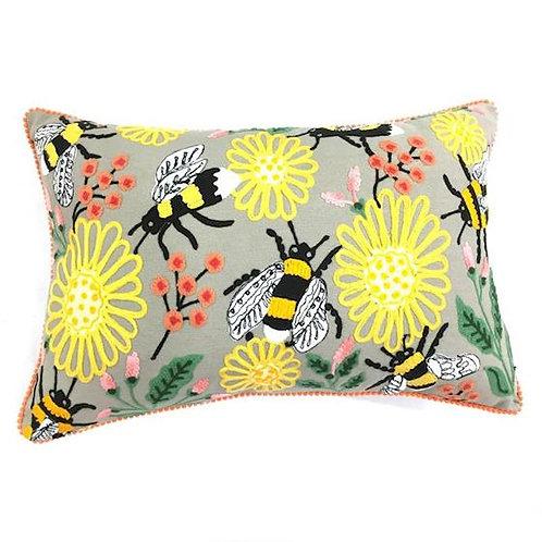 Kussen bloemen en bijen