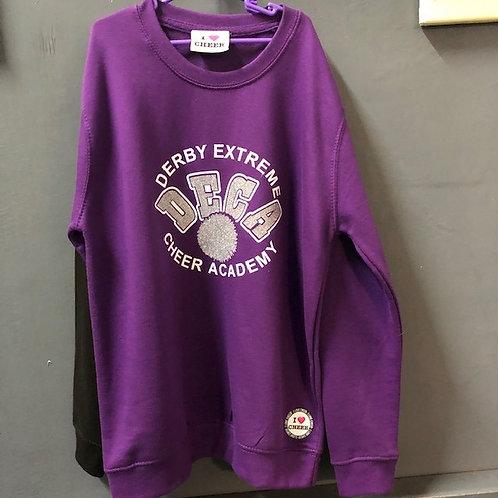 DECA Black/Purple Logo Sweatshirt - Child
