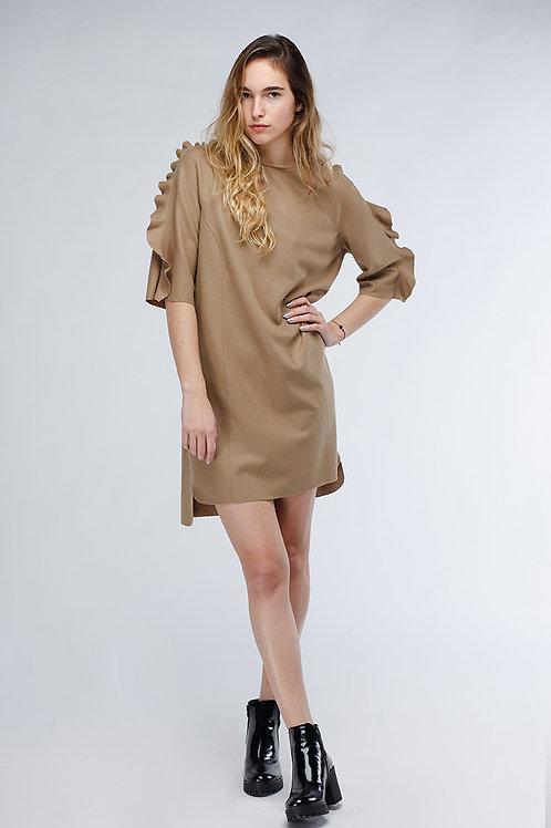 Платье из валяного трикотажа