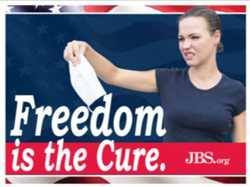 """Freedom is the Cure Yard sign-Flag and Bird 18"""" x 24"""" and more"""
