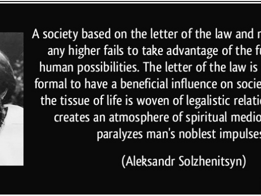 The Ideological Differences... Part 3- Spirit of the Law vs. Letter of the Law
