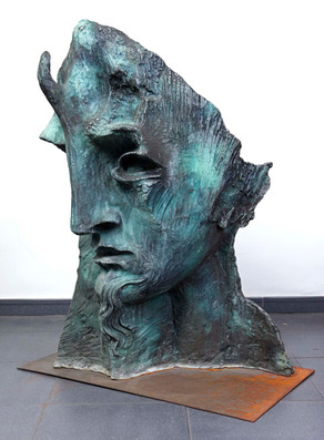 Tres mascaras-mascara3perfil_1988_bronce