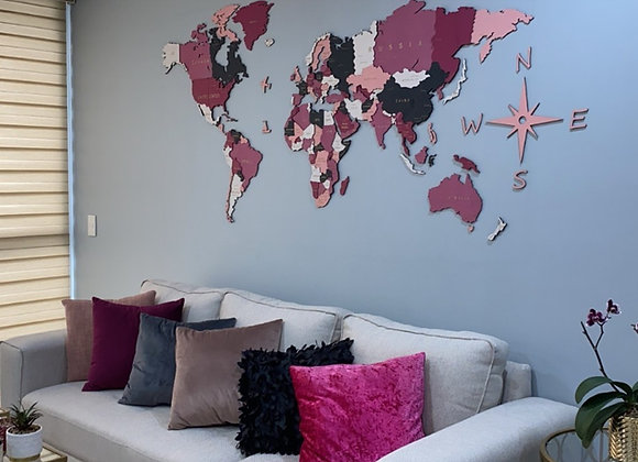 Mapa Mundial 3D Bubble Gum