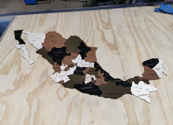 México Pueblos Mágicos 3D Earth Brown