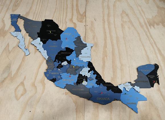 México Pueblos Mágicos 3D Sky Blue