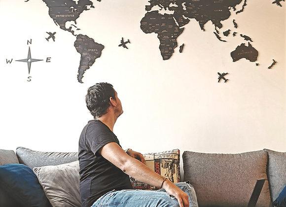 Mapa Mundial Super Black