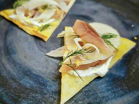 Sardines fumées et citron noir fermenté par Alexia Duchêne
