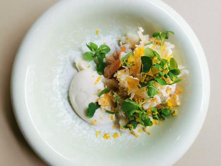Chou-Fleur, Poutargue Classique & Crevettes Grises par Yoshiaki Ito