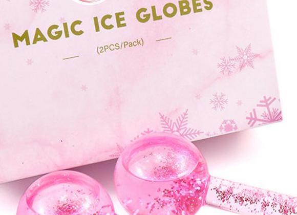 HOT Pink Glitter Ice Globes