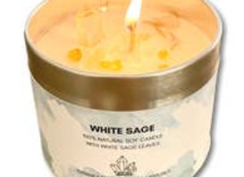 White Sage Clearing Candle