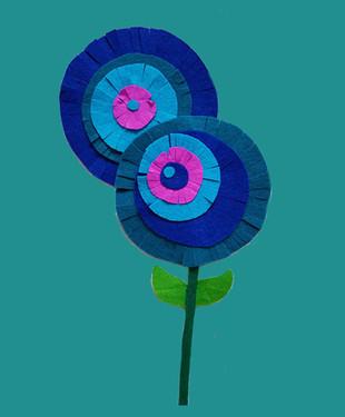 Stoffen bloem