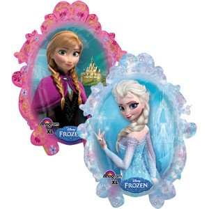 Large Elsa and Anna Helium Filled Foil
