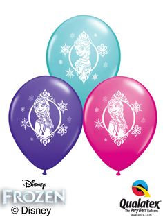 "11"" Frozen Printed Assorted Colours"