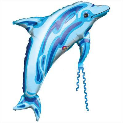 "37"" Foil Blue Dolphin"