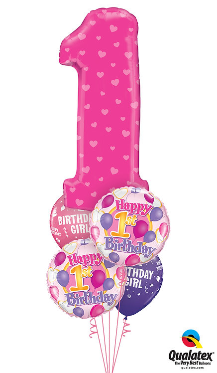 Happy Number Birthday Blue or Pink!