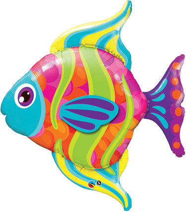 "43"" Foil Tropical Fish"