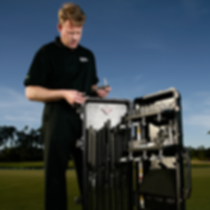 Edel putter fitting cart
