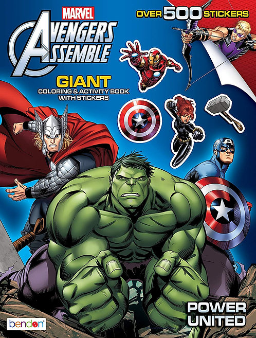 Avengers Assemble Coloring & Activity Book with Stickers
