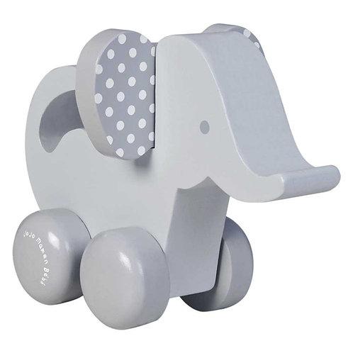 Wooden Elephant Push-Along Toy