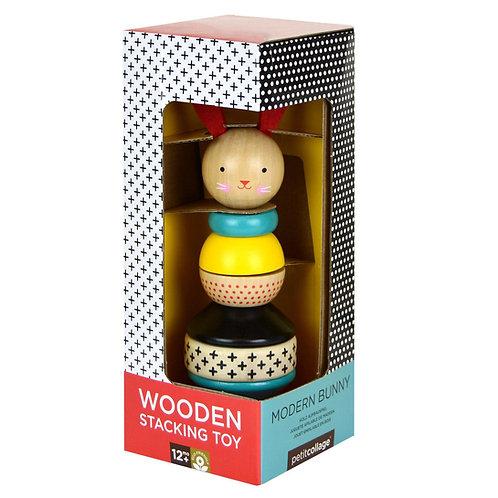 Wooden Rabbit Stacker Toy