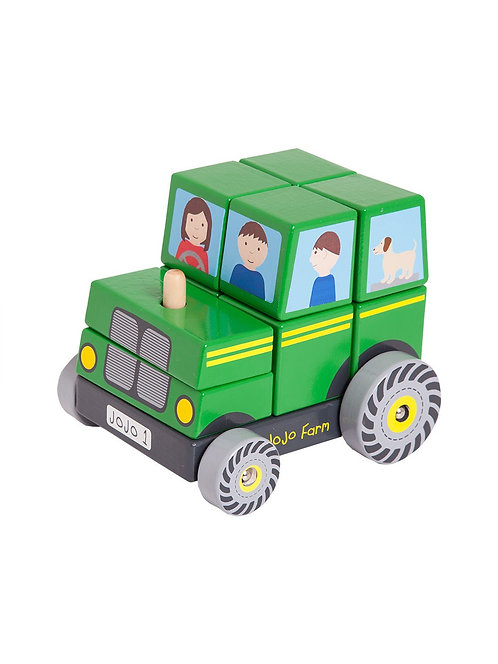 Farm Tractor Wooden Stacker