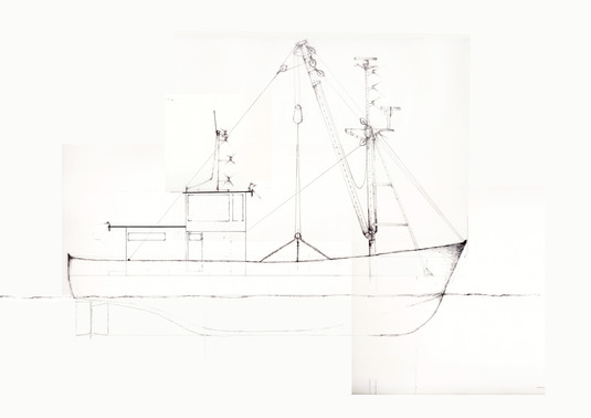 Ship, side view.