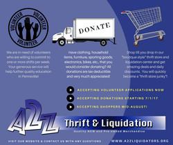 shop volunteer donate