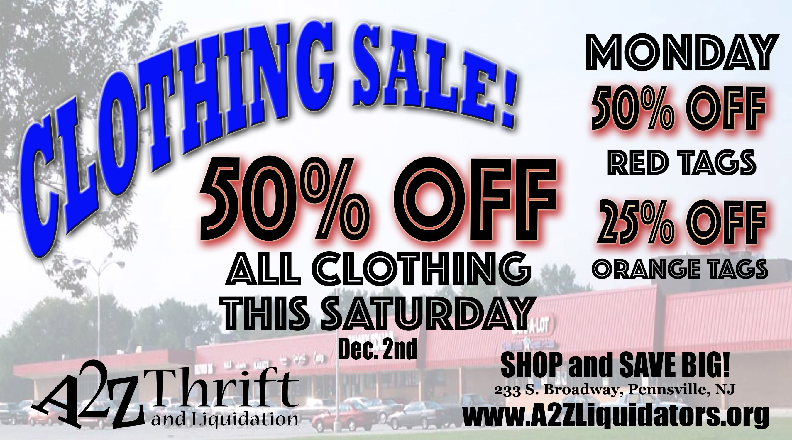 A2Z clothing sale 11-29-2017