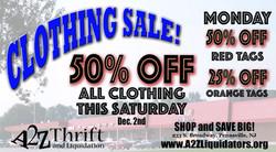 A2Z clothing sale 11-29-2017