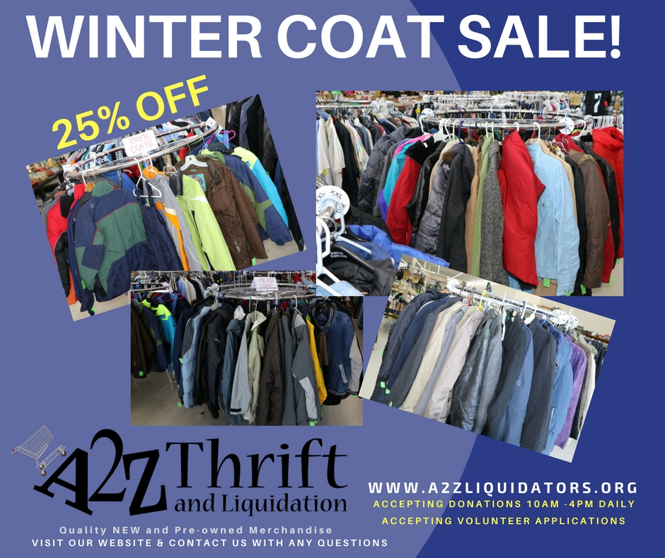 winter coat sale 1-15-18