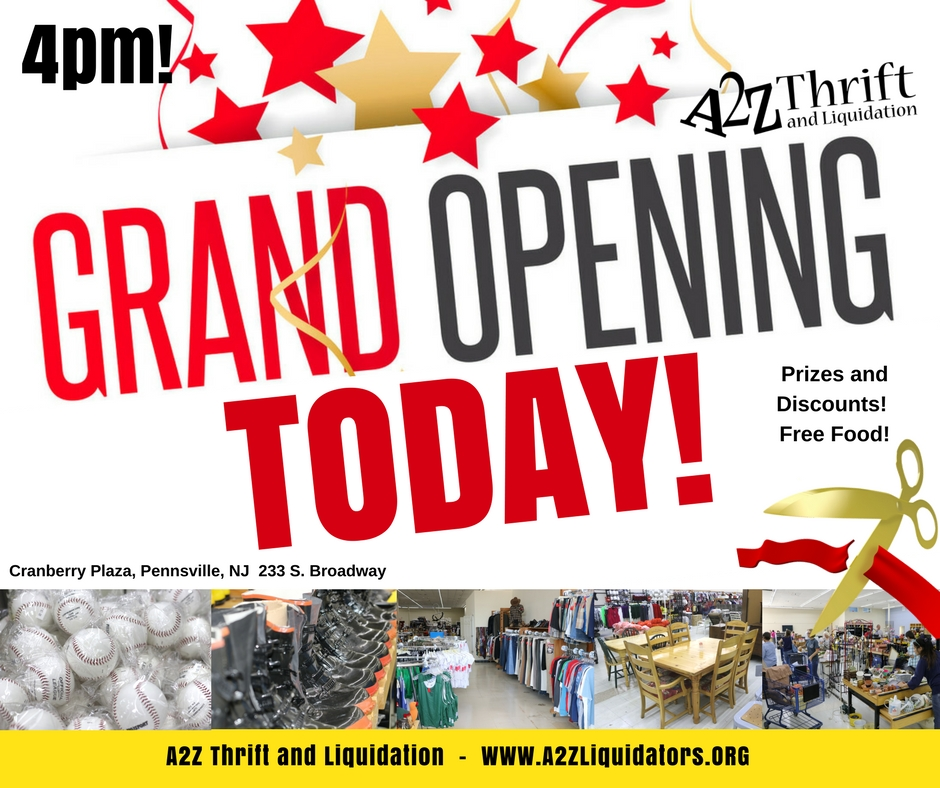 grand opening a2z TODAY