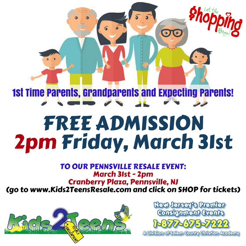 1st time parents, grandparents shopping pensville 3-17