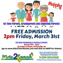 1st time parents, grandparents shopping pensville 3-17