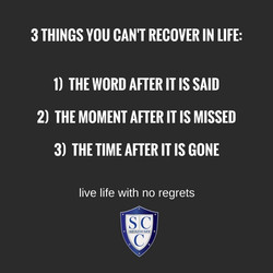 3 things you cant recover