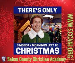 only 5 mondays till christmas