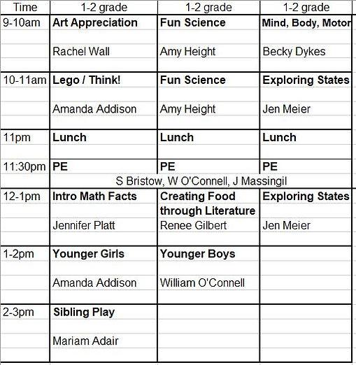 2021 - 2022 1st - 2nd Grade Schedule.JPG