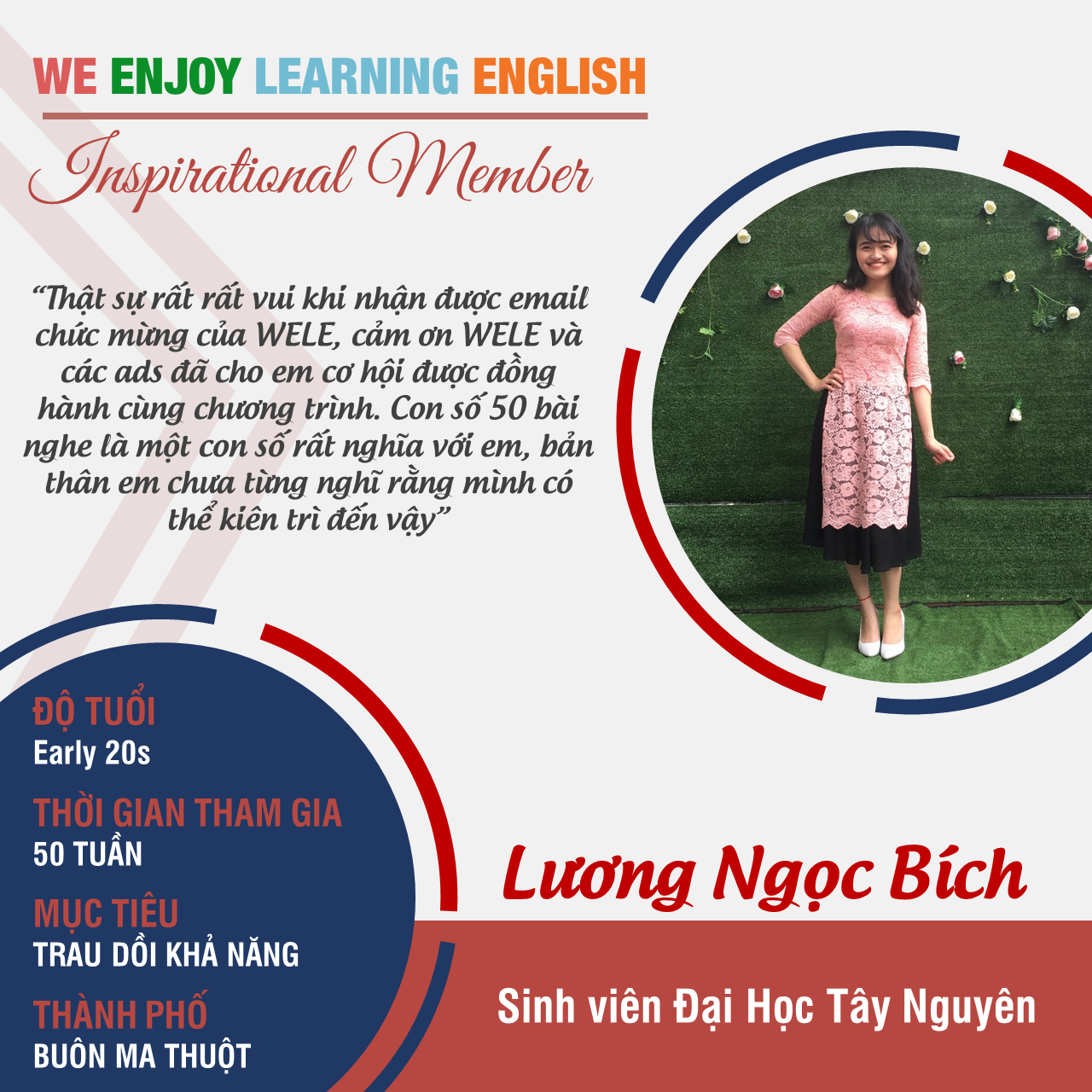WELE Inspirational Member Luong Ngoc Bich