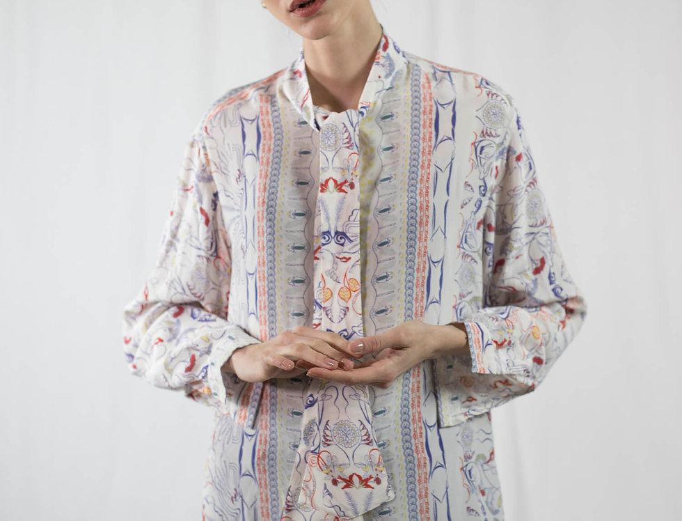 Chemise à rubans