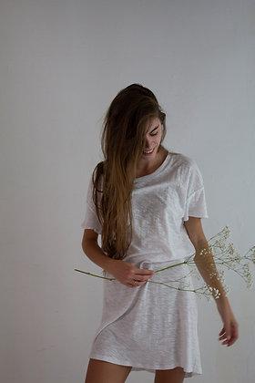 T-shirt long à épaules tombantes