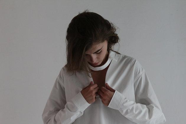 Chemise à col destructuré
