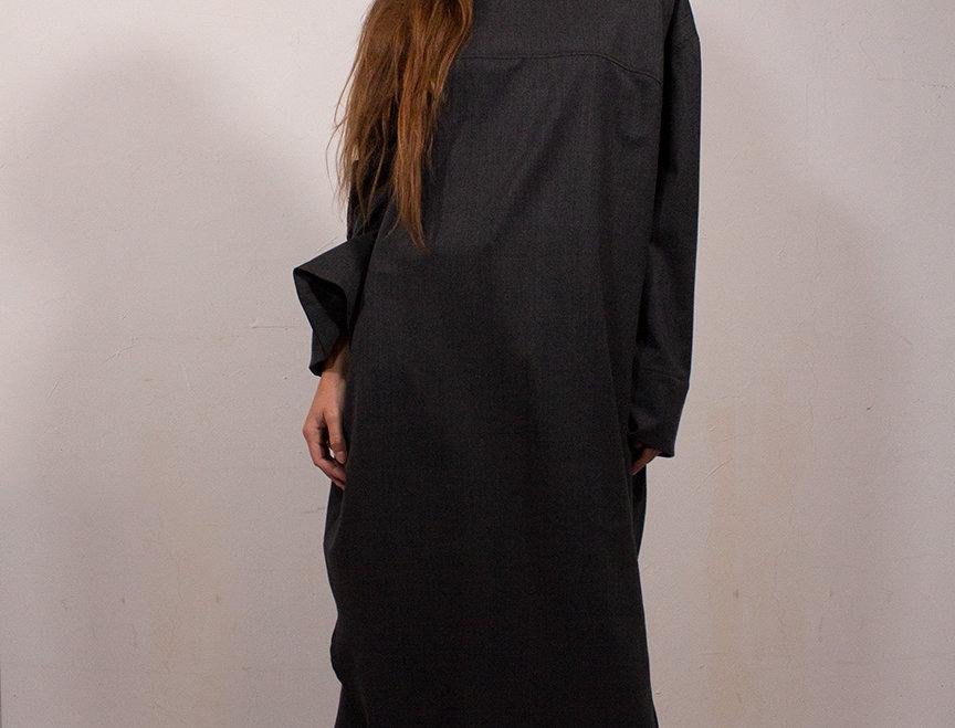Robe ruban à manches longues