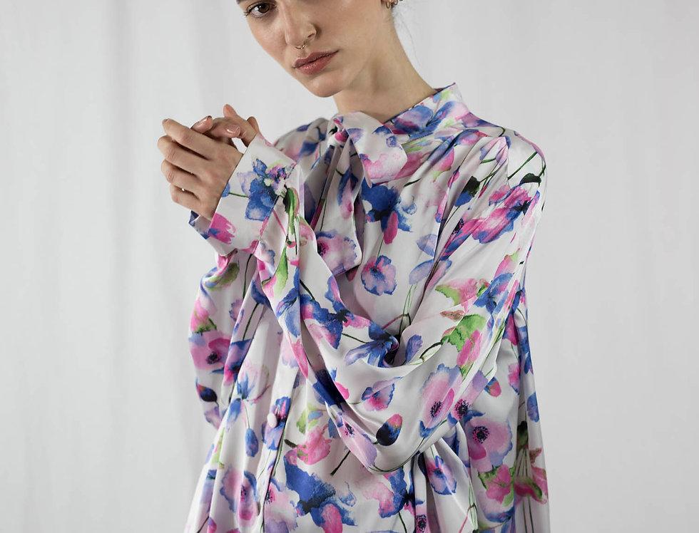 Chemise longue à rubans