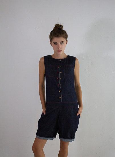Combishort en jean