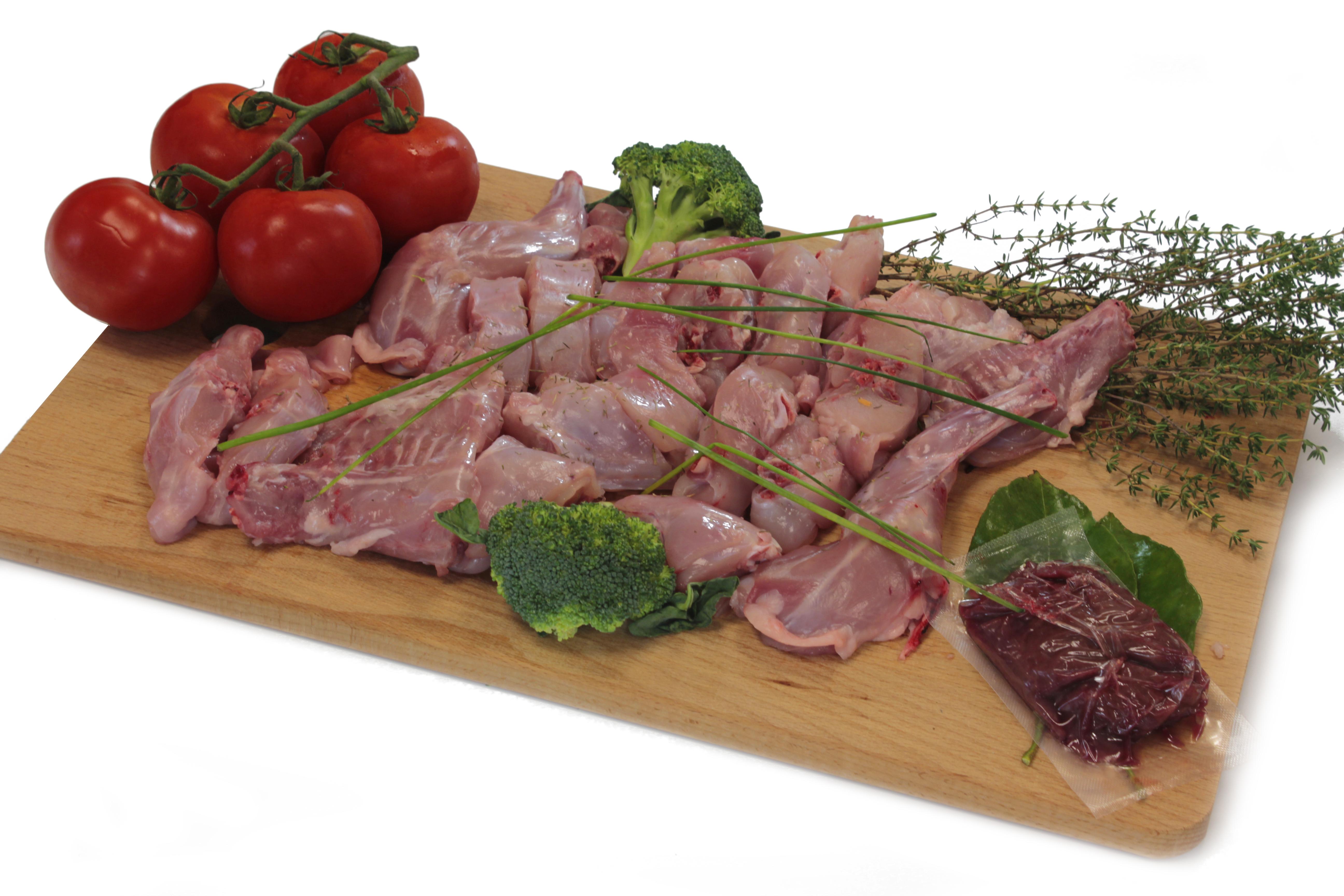 Chopped Rabbit Meat