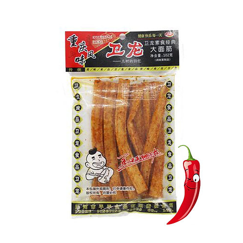 WeiLong Snack Gluten Hot Spicy Strip 102g * 2