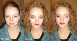 airbrush makeup transformation